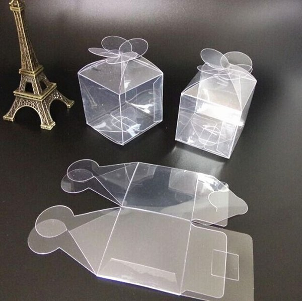 4.5cm candy box bag chocolate clear gift package for Birthday Wedding Party Decoration supplies craft DIY favor baby shower plastic petal