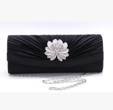 Black chain hand bag
