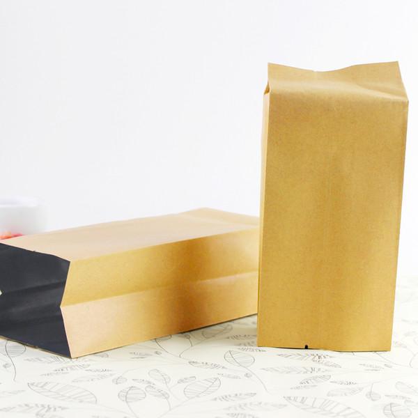 12*5.5*2.5cm 200Pcs/Lot Heat Seal For Food Side Gusset Packaging Bag Vacuum Kraft Paper Aluminum Foil Bellows Pocket Organ Bags