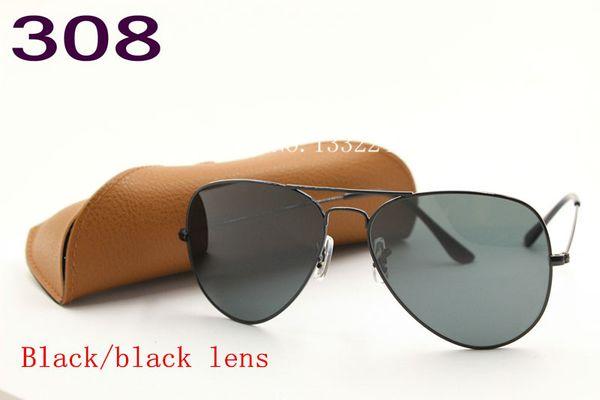 1pcs High Quality Classic Pilot Sunglasses Designer Brand Mens Womens Sun Glasses Eyewear Gold Metal Green 58mm 62mm Glass Lenses Brown Case