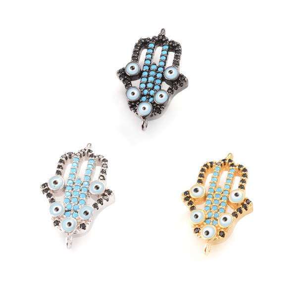 3 Color Turquoise Jewelry ECO-Friendly Arrow Shape Micro Pave Charm Double Hole Connector, ICSP024, Size 21*12.9 mm