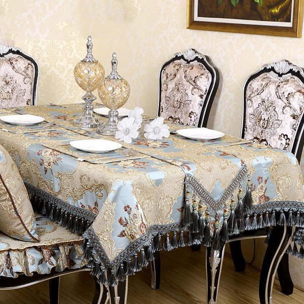 high relief table cloth european pastoral style cheap tablecloths