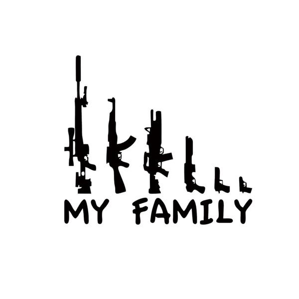 Cool Graphics My Gun Familie Bumper Sticker Fenster Lustige Aufkleber Vinyl Autozubehör Dekorative JDM