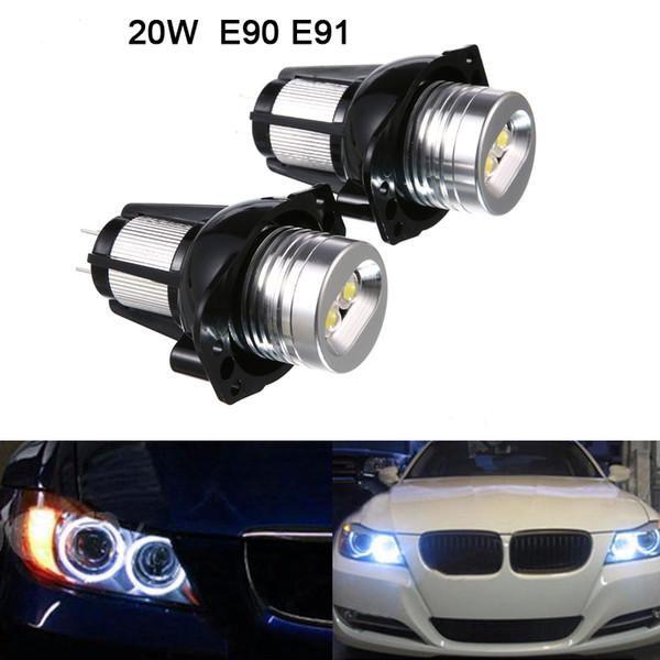 2pcs 1200LM 20W Headlight Angel Eye Ring Marker Halo Light Led for BMW E90 E91 Conversion CLT_60B