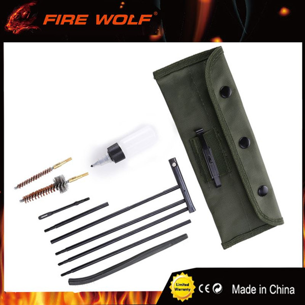 best selling FIRE WOLF Hunting Rifle Gun .22cal, 5.56mm Rifle Gun Cleaning Kit Hunting Gun Care for Rifle Cleaning Kit