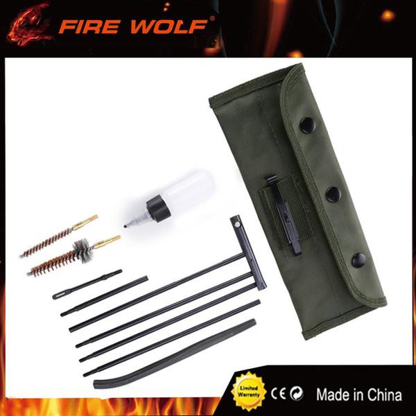 FIRE WOLF Pistola de rifle de caza .22cal, kit de limpieza de pistola de rifle de 5.56 mm Pistola de caza Cuidado para kit de limpieza de rifle