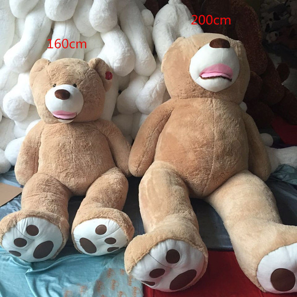 with Zipper Plush Toy Shell 63/'/' Super Huge Teddy bear only Cover no stuffed