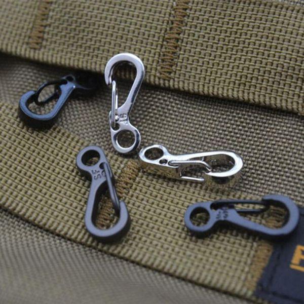 10pcs/lotPlating Spring Buckle Snap Waterproof Mini Key Ring Climbing Camping Accessories key Ring Free Shipping