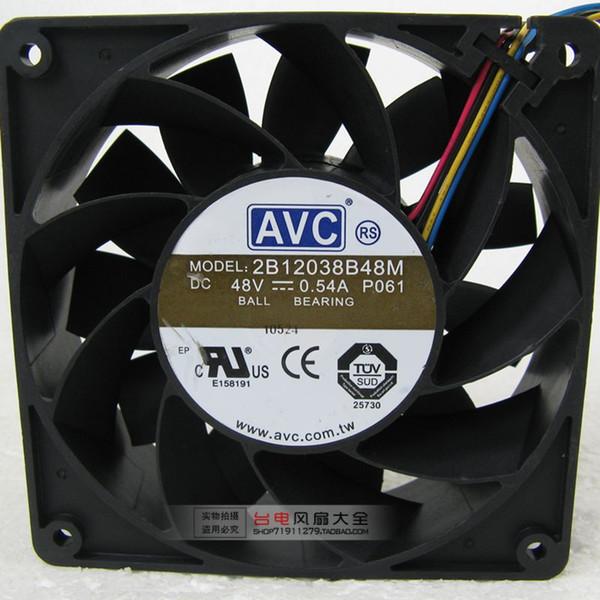 Ücretsiz Kargo YENI AVC 2B12038B48M sunucu Için Soğutma Fanı DC 48 V 0.54A 120x120x38mm 4-Pin