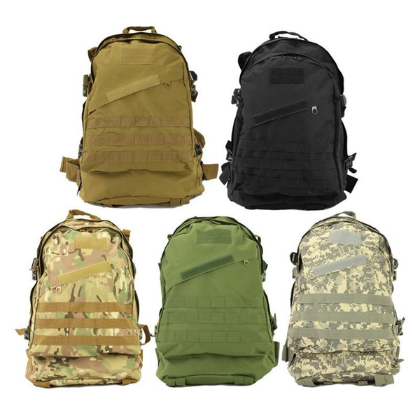 10pcs New Unisex Sports Outdoors Molle 3d Military Tactical Backpack Rucksack Bag Camping Traveling Hiking Trekking 40L Free DHL/Fedex