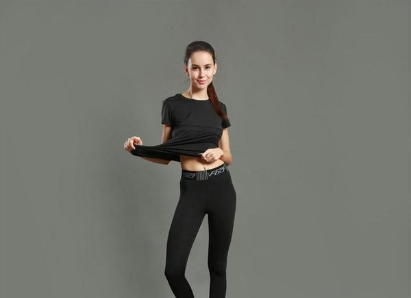Sport  tight  pant  girl  running fitne   yoga pant  pure color quick dry breathable