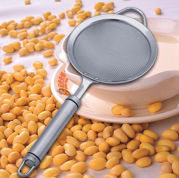 Fino Malha Food Coador De Aço Inoxidável Cozinha Colander Diâmetro 12 cm Suco De Frutas Colander Soja Filtro De Leite Tela