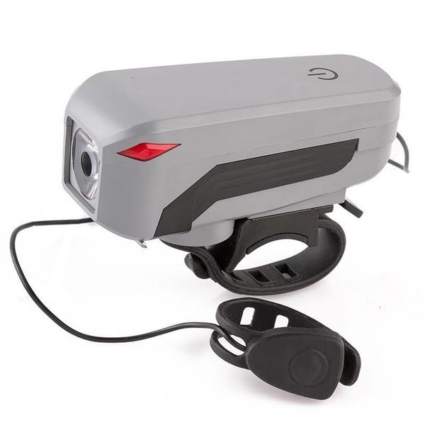 4 Mod 2000 mah USB Şarj Edilebilir T6 LED Bisiklet Far Başkanı Işıklar Dokunmatik Bisiklet 140 dB Boynuz Çan Alarm Ön Kolu Bar Işık El Feneri