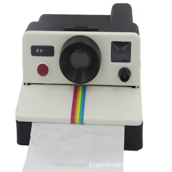 Wholesale- 2016 New Creative Camera Tissue Box Napkin Holder Toilet Paper Holder For Toilet Accessory Office Table Home Decor