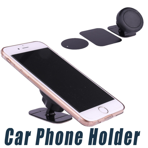 Car Phone Holder Stand Magnetic Dashboard Mount Magnet Phone Support With Adhesive For Universal Cell Phone