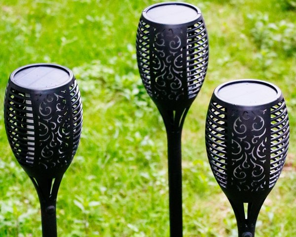 KYFL01-8,2pcs New LED Solar Flame Flickering Lamp Torch Light Flicker Solar Powered Waterproof Decorative Lamp For Garden Path Lawn Lamp