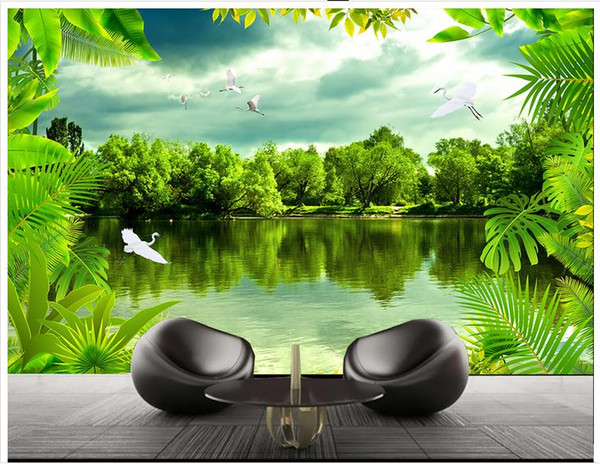 Wallpaper desktop nature rain 3d