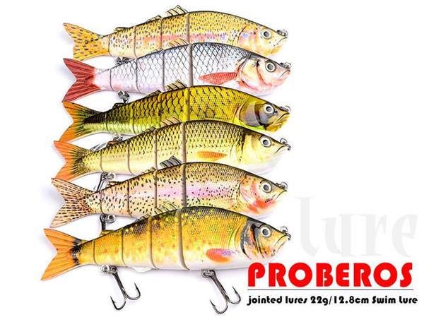 Beat Saltwater Fishing Big Game ABS Platic Lure 26cm 177g 5 Sections Big Bass Bait 4/0# Hook Fishing Tackle