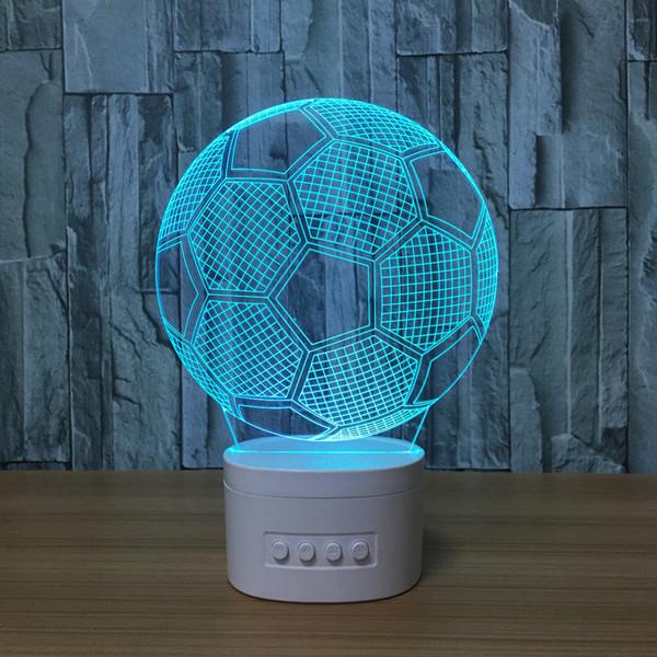 Grosshandel 3d Fussball Led Lampe Lautsprecher 5 Rgb Lichter Usb Lade Bluetooth Lautsprecher Tf Karten Grosshandelsdropshipping Von Secues 10 56 Auf