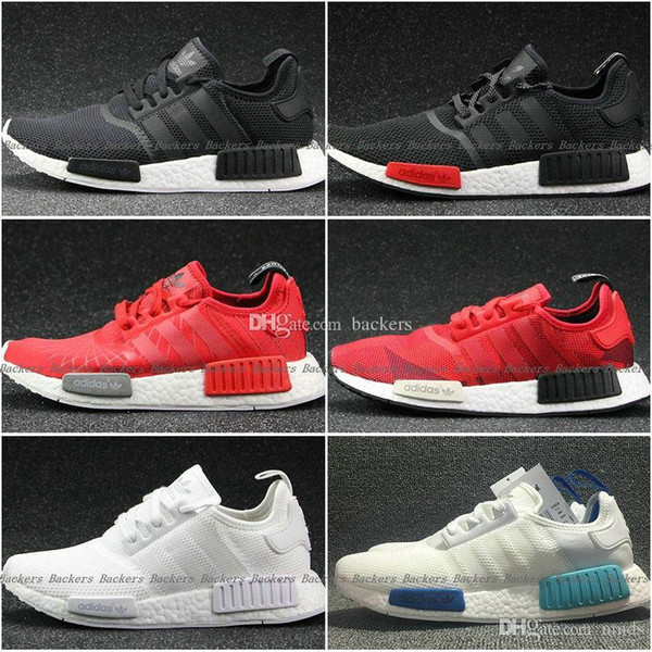 available classic shoes new products Acheter 2017 Original NMD Runner R1 Mesh Triple White Cream Salmon ...