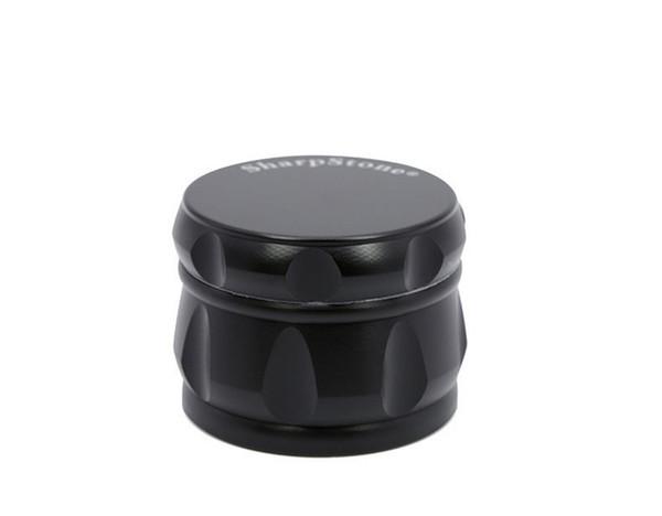 43 millimetri 4pc Black Gold drum rainbow Herb smerigliatrici con forma Sharpstone metallo tabacco smerigliatrici per bong