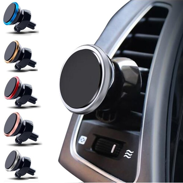best selling Free DHL Magnet Car Phone Holder Air Vent 360 Rotatable Stand Mount for phones
