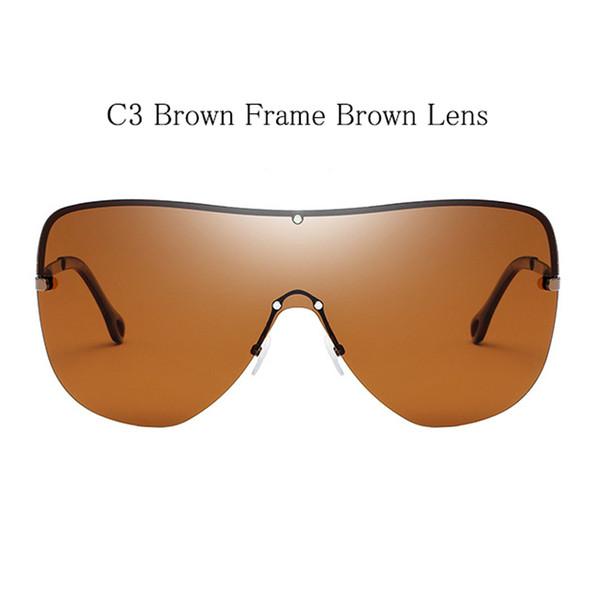 C3 Brauner Rahmen Braun Linse