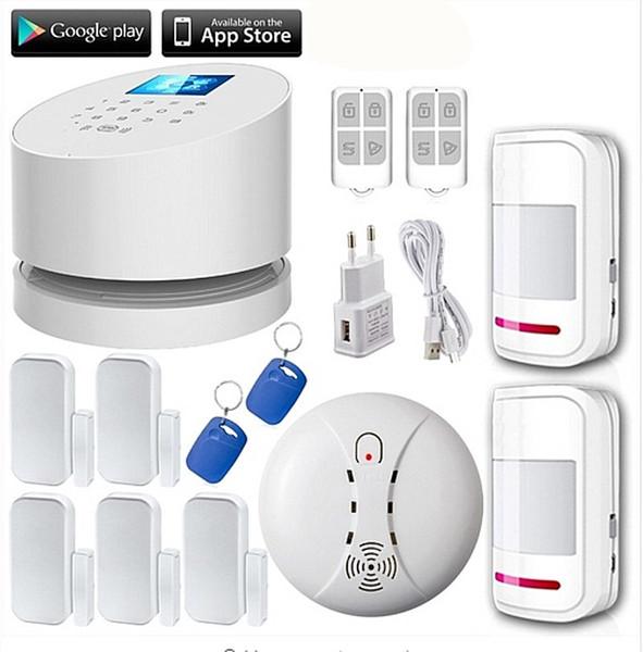 LS111-W2 WiFi GSM PSTN RFID telefon LINE einbrecher Alarmanlage Wifi GSM hausalarm + 5 tür lücke sensor 2 bewegungssensor