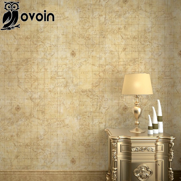 Wholesale Vintage Europe Continent Map Wallpaper Roll Antique Map World  Wall Paper Nautical Map For Teenage Room,Study Room Beige High Resolution  ...