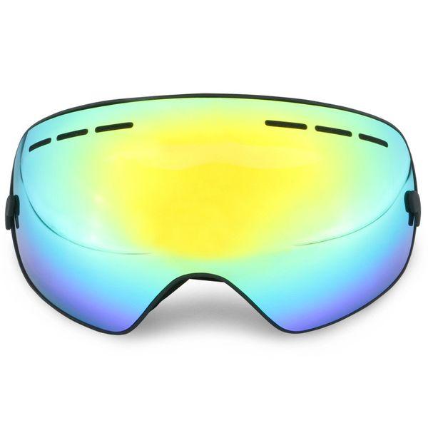 Gros Grandes Lunettes De Ski à Double Objectif Anti-buée Professionnel Sking Lunettes De Soleil Unisexe Multicolore Hiver Jouer Snowboard