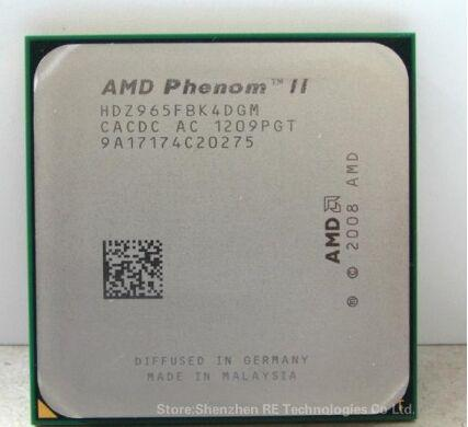 X4 965 Originale per processore AMD Phenom II X4 965 (3,4 GHz / 6 MB L3 Cache / Socket AM3) CPU quad-core a pezzi sparsi