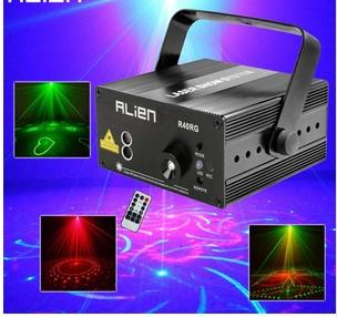 ALIEN RG 3 Lens 40 Patterns Mixing Laser Projector Stage Lighting Effect Blue LED Stage Lights Show Disco DJ Party Lighting
