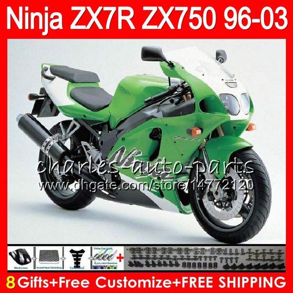 8Gifts 23Colors For KAWASAKI NINJA ZX7R 96 97 98 99 00 01 02 03 18NO67 Factory green ZX750 ZX 7R ZX-7R 1996 1997 1998 2001 2002 2003 Fairing