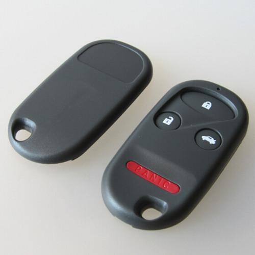 Nuevo 3 botones + tecla de pánico cubierta remota para honda reemplazo de la carcasa de entrada sin llave sin lugar de la batería