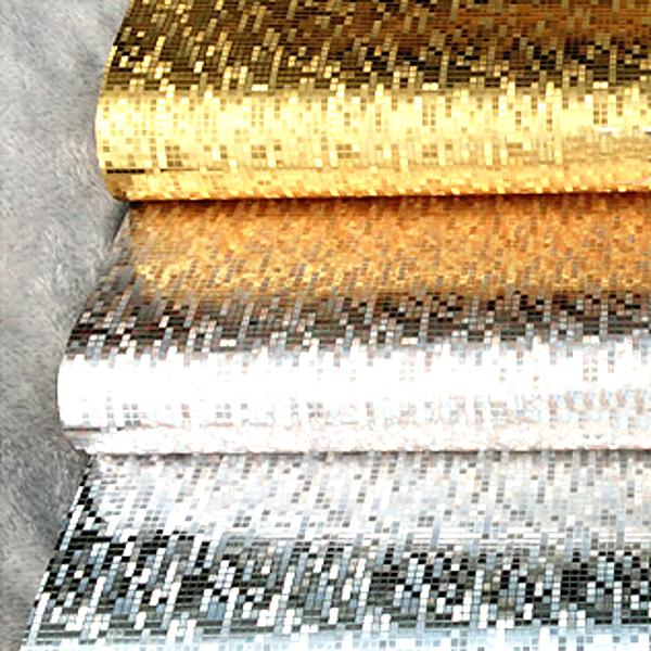 Wholesale- Plating light reflect mirror luxury gold silver foil glitter wallpaper washable for kitchen glossy ceiling wall paper bathroom