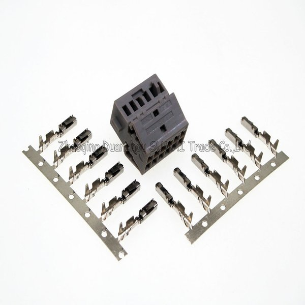 Grey 12Pin AMP/TE 8X0 035 447 B Auto reversing image Bluetooth plug/retrofit plug connectors with ECU terminals for VW,Audi car