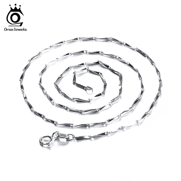 Lead & Nickel Free Necklace Chain Fashion Jewelry 925 Sterling Silver Water-Wave Necklace Chain Free Shipping SC01