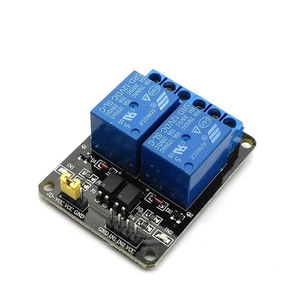 5 V 12 V 2-Kanal Relaismodul Schild Für Ardui ARM PIC AVR DSP Elektronische 5 V 12 V 2 Kanal Relaismodul
