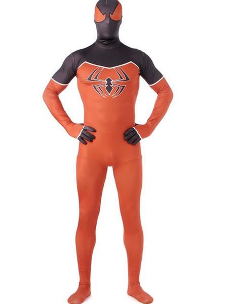 DHL Classic 3D impression Enfants Adulte Orange Spiderman Morph Zentai Costumes