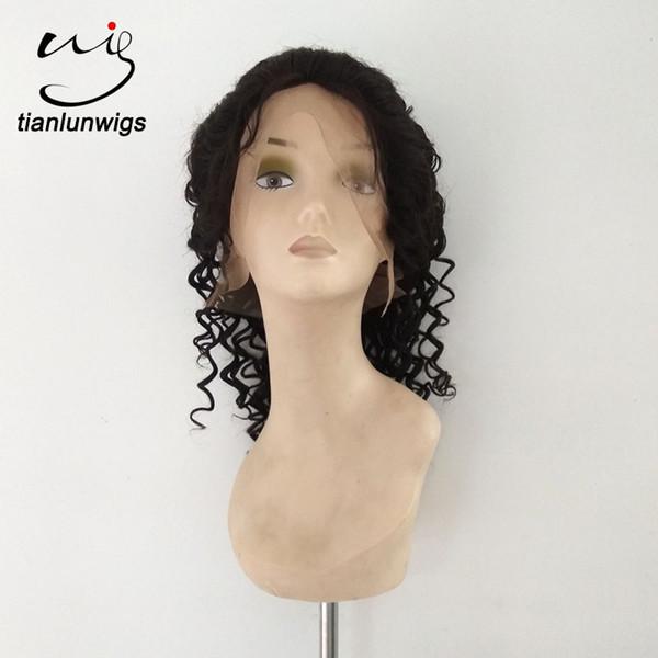 parrucca gluteless del merletto 14% del glueless di 100% parrucca naturale dei capelli umani di colore naturale dei capelli umani per le donne