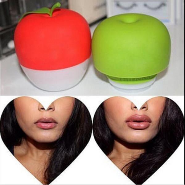 Forma de manzana Bomba de labios Mujeres Plumper Enlarger Bigger Doble Solo Lóbulo Lóbulo Labios más regordetas Herramientas de succión OOA2229