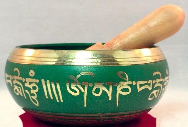top popular Wholesale cheap Relaxing Yoga Green Tara Singing bowl Great sound 2021