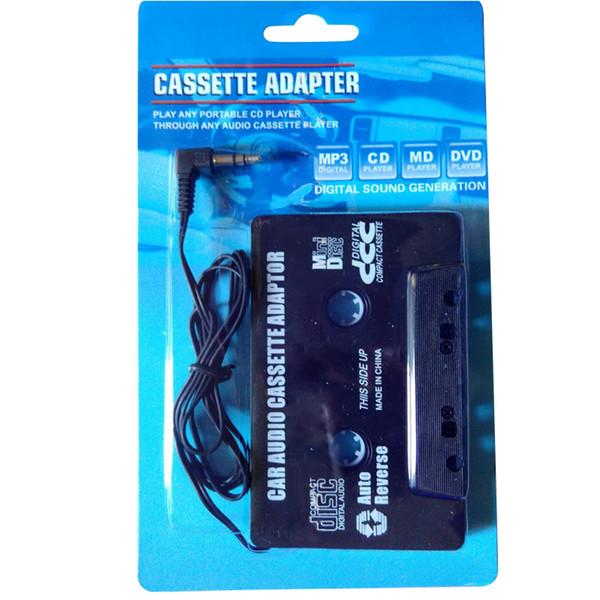 Adattatore per cassette audio stereo universale per cassette audio da 3,5 mm Adattatore per cassette audio MP3 per lettore MP3 NERO gratuito con confezione al dettaglio