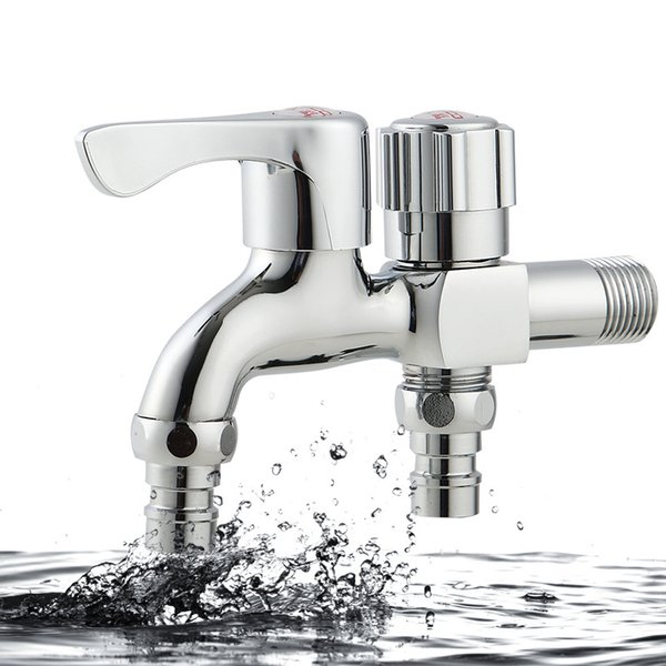 Multi-function faucet copper tap Quick opening the washing machine tap Double open leading sanitary ware factory direct sale