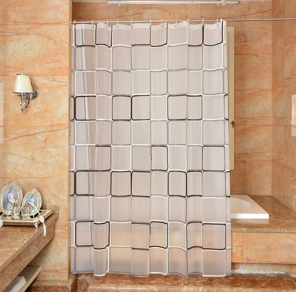 Waterproof Shower Curtain PEVA mildew thick Bathroom Curtains big box Pattern with Hooks Free print wholesale LJ024