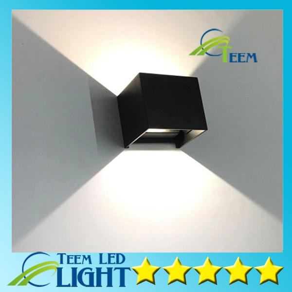 Ücretsiz kargo LED açık su geçirmez duvar lambası Çağdaş ve sözleşmeli açık koridor balkon merdiven bahçe duvar lambası X4pcs / Lot