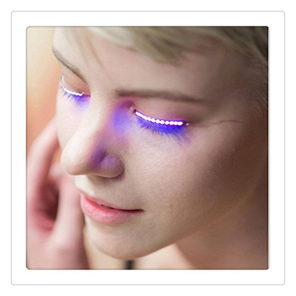 2017 Fashion LED Eyelashes Sandistore Eyelid False Eyelashes For Fashion Icon Saloon Pub Club Bar Party Free Shipping