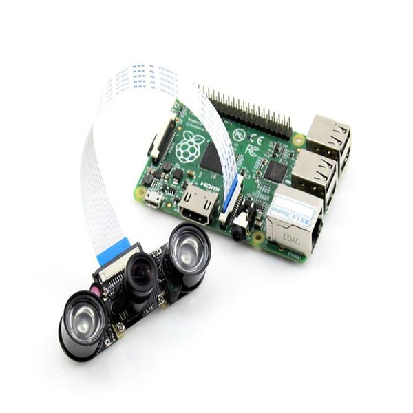Freeshipping 500w Raspberry Pi Camra for Model B/B+ Night Vision Camera Module+ 2X Infrared Light For Raspberry Pi Webcam Video
