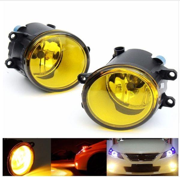 2Pcs 55W LED Round Front Right/Left Fog Light Lamp DRL Daytime Driving Running Lights For Toyota/Camry/Carola/Vios/RAV4