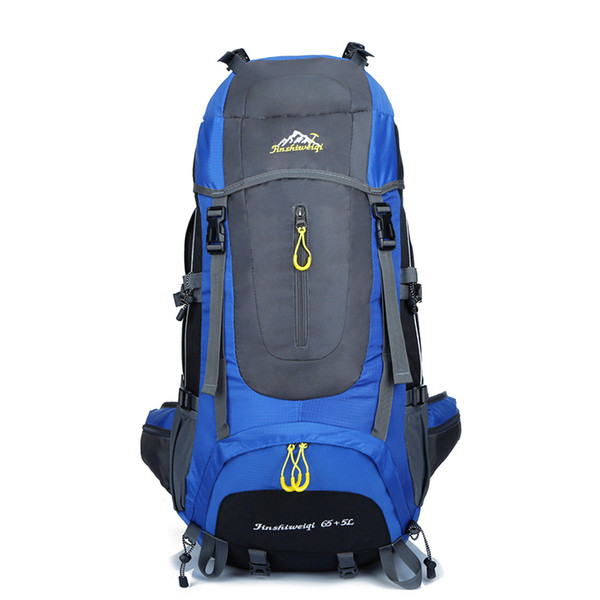 Wholesale- Big 65L Backpack Unisex Travel Backpacks Waterproof Rucksack Bag Nylon Women Men Backpack
